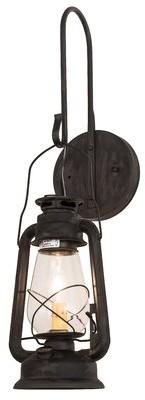 Loon Peak Aitken Twin 2 Light Outdoor Wall Lantern Finish Black Shade Color Slag Glass Pretended Shopstyle