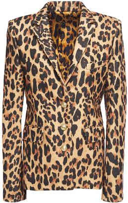 Paco Rabanne Leopard-wool-blend Felt Blazer