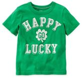 """Carter's Size 2T """"Happy Go Lucky"""" Shirt in Green"""