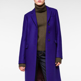 Paul Smith Women's Indigo Wool-Cashmere Epsom Coat