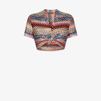 Missoni Mare Crochet Knit Crop Top