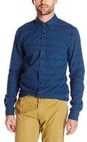 Scotch & Soda Men's Radio Blauw Allover Printed Shirt
