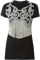 Balmain embroidered short sleeved T-shirt