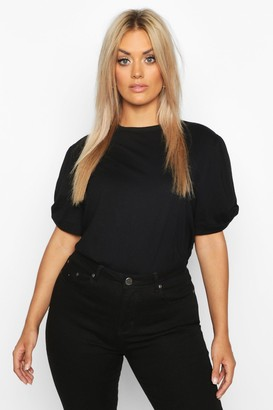 boohoo Plus Ruched Knot Puff Sleeve T-Shirt