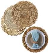 Twos Company Two's Company Pandan and Seashells Placemats, Set of 4