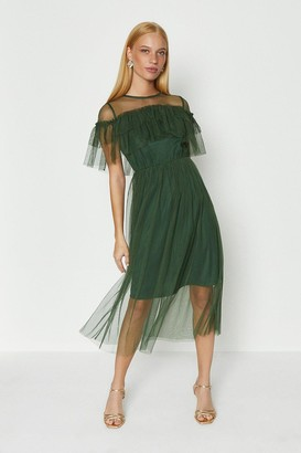 Coast Ruffle Mesh Dress