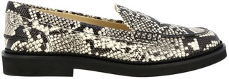 Tod's Loafers In Python-print Leather With Crossbar And Rubber Sole
