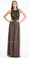 JS Boutique Pleated Chiffon Overlay Evening Dress
