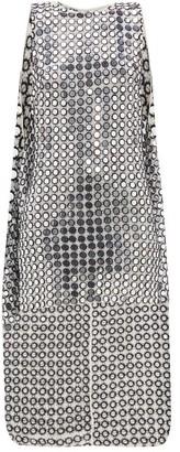 Ashish Shisha-mirror Embroidered Cape-back Mini Dress - White Silver