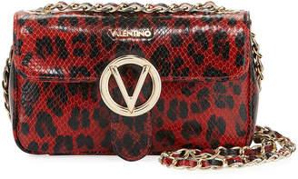 Mario Valentino Valentino By Poisson Leopard-Print Leather Shoulder Bag