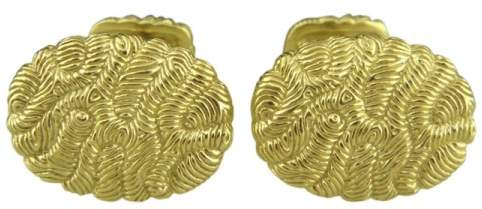 David Yurman 18K Yellow Gold Oval Cufflinks
