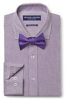 Graham & Graham Men's Stripe Dress Shirt & Solid Bow Tie Set Purple - Graham & Graham
