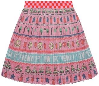 Marc Jacobs Printed metallic skirt