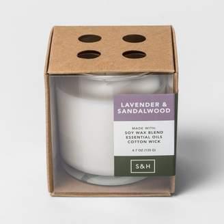 Smith & Hawken 4.7oz Boxed Glass Jar Candle Lavender & Sandalwood - Smith & HawkenTM