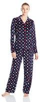 Nautica Sleepwear Women's Knit Fleece Pajama Set