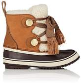 Chloé Women's Sherpa-Trimmed Suede & Leather Snow Boots