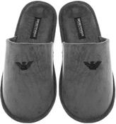 Giorgio Armani Emporio Mule Slippers Grey