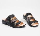 Think! Leather Adjustable Slide Sandals- Camilla
