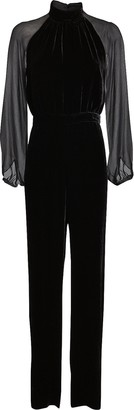 Intermix Stella Velvet High Neck Jumpsuit
