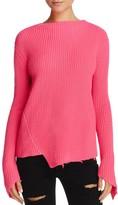 Generation Love Sage Asymmetric Distressed Sweater