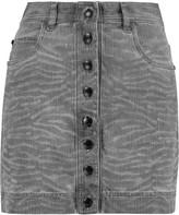 Just Cavalli Printed denim mini skirt