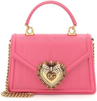 Dolce & Gabbana Devotion Small moire shoulder bag