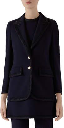 Gucci Rope-Trim Cady Blazer Jacket