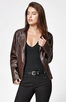 Members Only Faux Leather Asymmetrical Moto Jacket
