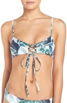 Mara Hoffman Lace-Up Bikini Top