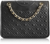 Tory Burch Fleming Medium Quilted Smooth Leather Bag w/Chain