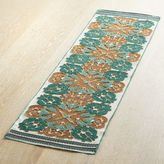 Pier 1 Imports Golden Turquoise Embroidered Table Runner 51""