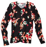 Merona Women's Ultimate Cardigan Sweater - Black Floral