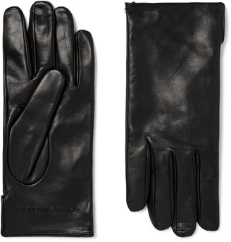 Bottega Veneta Cashmere-Lined Leather Gloves