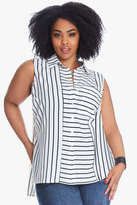Fashion to Figure Harvie Mixed Stripe Boyfriend Shirt