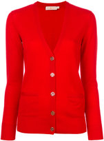 Tory Burch v-neck long-sleeved cardigan - women - Merino - XS