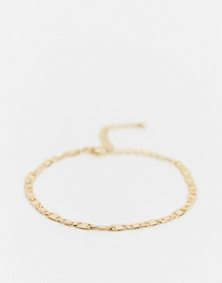 NY:LON small chain bracelet in gold