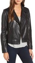 Women's Halogen Leather Moto Jacket