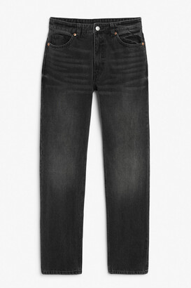 Monki Moluna washed black jeans