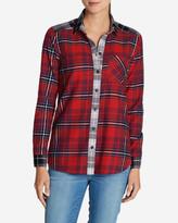 Eddie Bauer Women's Stine's Favorite Flannel Shirt - Mixed Plaid Boyfriend
