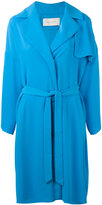 Cédric Charlier belted midi coat - women - polyester - S