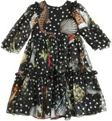 Dolce & Gabbana Fishes Print Silk Chiffon Party Dress