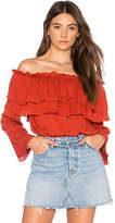 Endless Rose Flared Off The Shoulder Top in Red. - size M (also in S,XS)