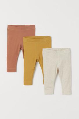 H&M 3-pack Leggings - Yellow