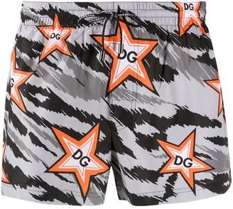 Dolce & Gabbana Star Pattern Swim Shorts