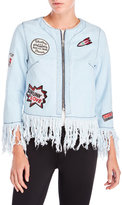 hot & delicious Denim Fringe Jacket