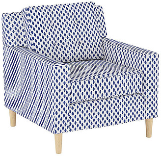 One Kings Lane Winston Club Chair - Navy Dot