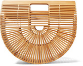 Cult Gaia Ark Large Bamboo Clutch - Beige