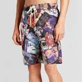 Star Wars Men's Card Pattern Board Shorts - Black