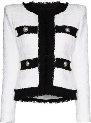 Balmain Two-Tone Boucle Tweed Jacket