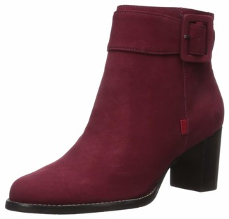 Marc Joseph New York Women's Leather Luxury Ankle Boot with Buckle Detail